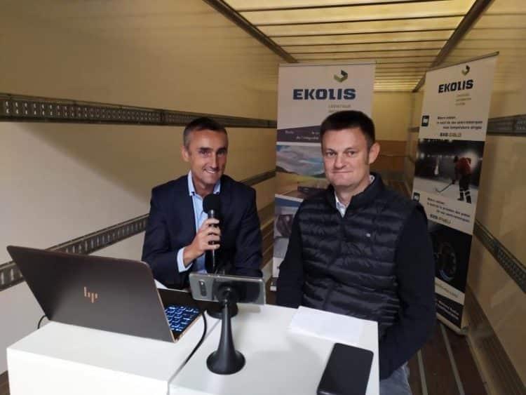 Guillaume Perdu (Ekolis) avec Sylvain Orain lors de la présentation à la presse